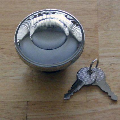 Locking gas cap for the Triumph Bonneville, Thruxton, Scrambler range of motorcycles