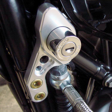 Ignition switch relocation kit for Triumph Bonneville, Thruxton , Scrambler range of motorcycles