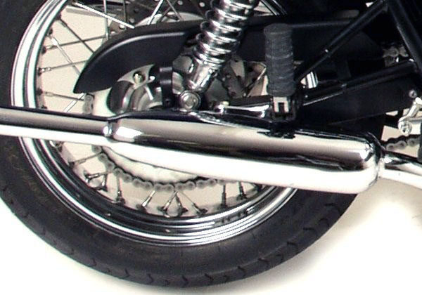Norman Hyde Teardrop Mufflers for Triumph Bonneville