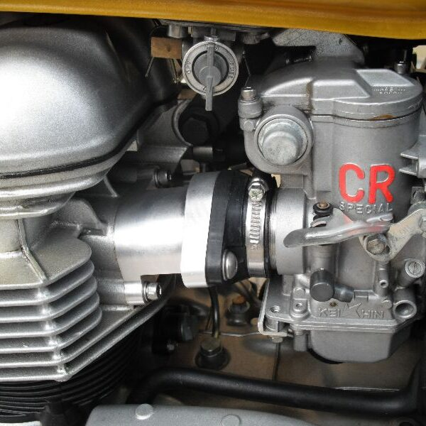 Billet Aluminum carburetor intake manifolds for Triumph Bonneville, Thruxton, Scrambler range of motorcycles