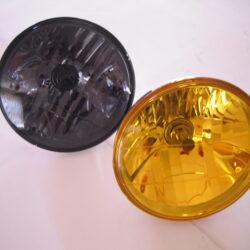 "Smoke & Amber Tinted 7"" Headlight Lamps"