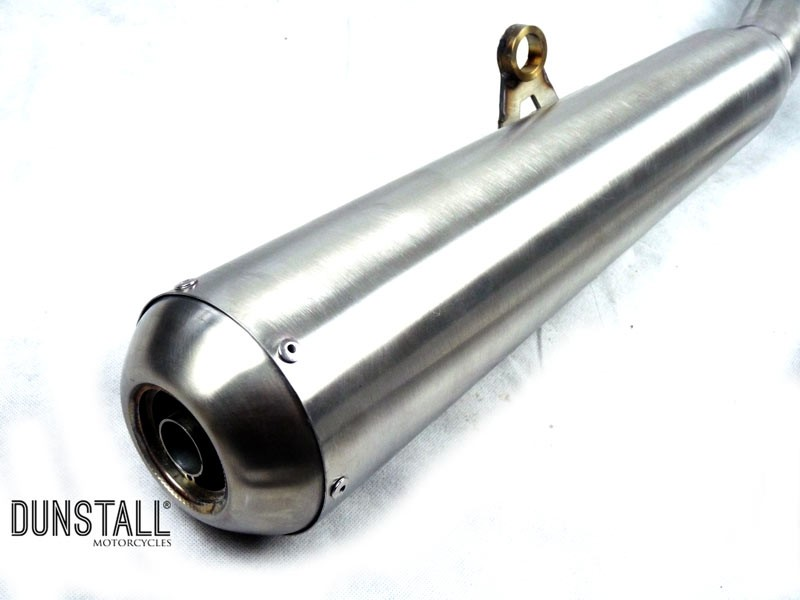 Dunstall 2 into 1 stainless steel exhaust system for Triumph classic twins