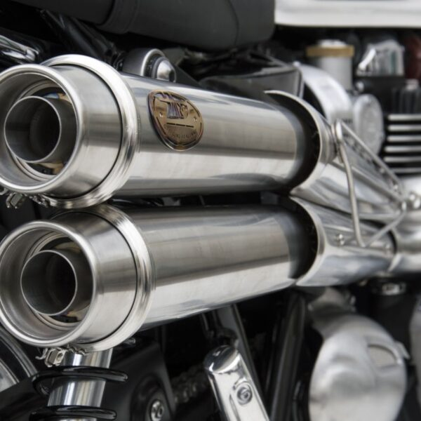 Zard 2-2 High Mounted Exhaust for T120 & Street Twin